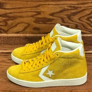 Converse PL 76 Mid Yellow Egret Shoes